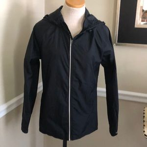 Champion women's nylon zip black jacket medium